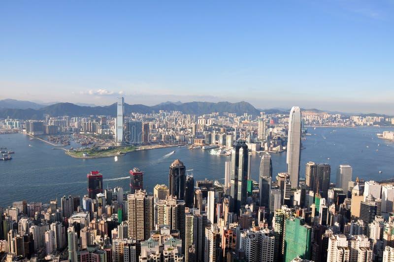 2010年香港高峰图 免版税库存照片