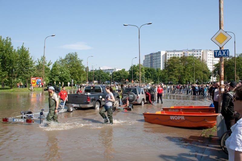 2010次洪水kozanow wroclaw 免版税图库摄影