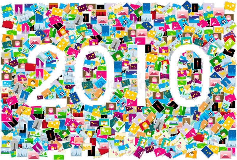 2010 år royaltyfri illustrationer