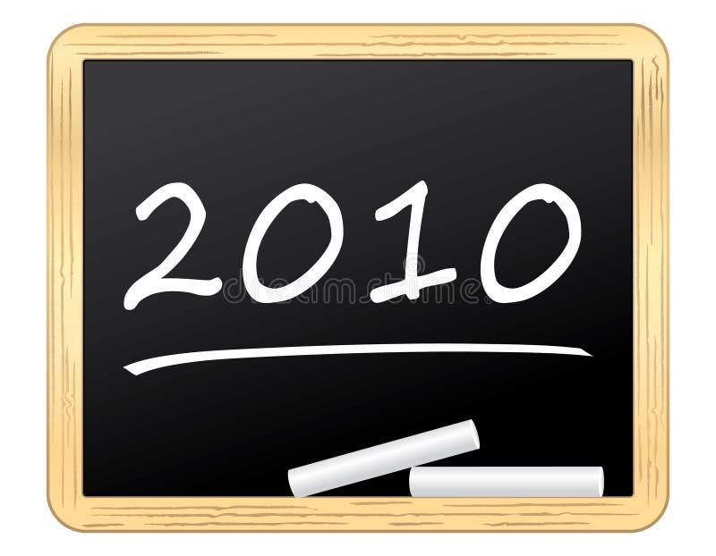2010 ładni blackboard pisać royalty ilustracja