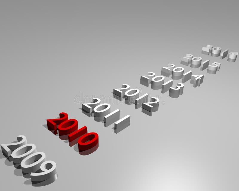 2010 καλή χρονιά διανυσματική απεικόνιση