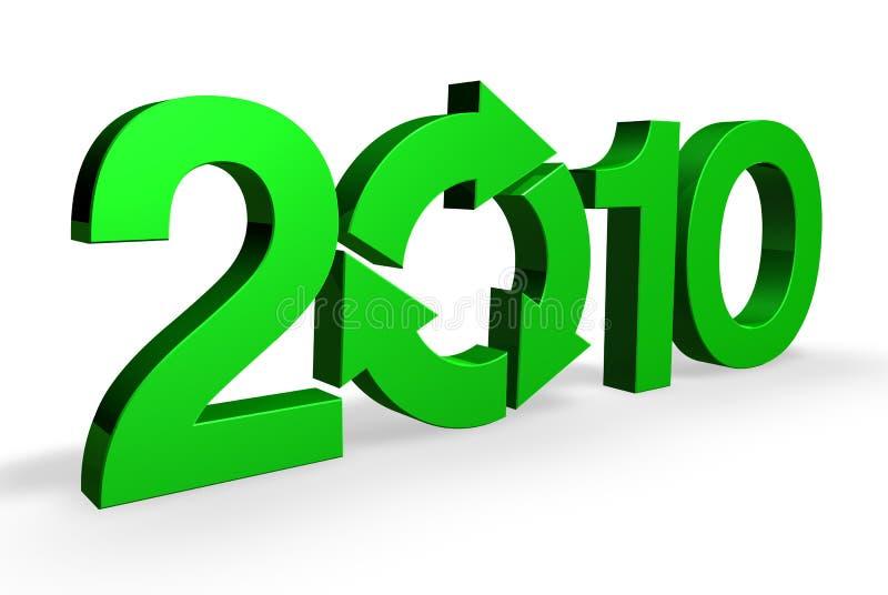 2010 πιό πράσινο ελεύθερη απεικόνιση δικαιώματος