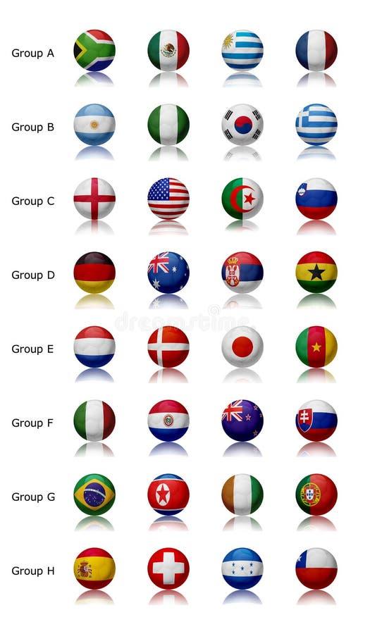 2010 всех чашек объениняется в команду мир иллюстрация вектора