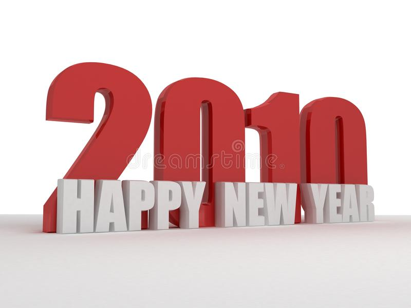 2010 3d happy new year greeting text royalty free illustration