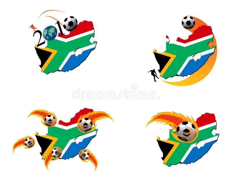 2010 Africa filiżanki futbolowy południowy świat ilustracja wektor