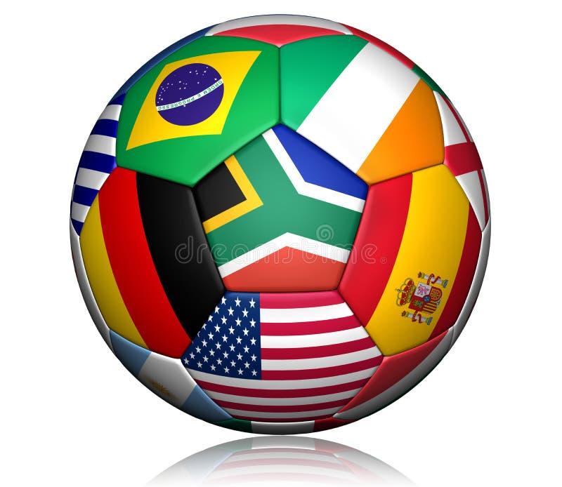 2010 balowych filiżanki futbolu światów ilustracja wektor