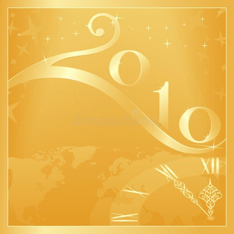 2010 bożych narodzeń szczęśliwy wesoło nowy rok ilustracji