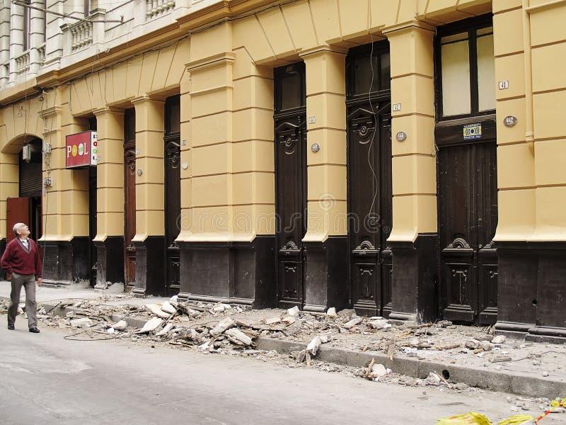 2010 Chile trzęsienie ziemi Luty Valparaiso fotografia royalty free