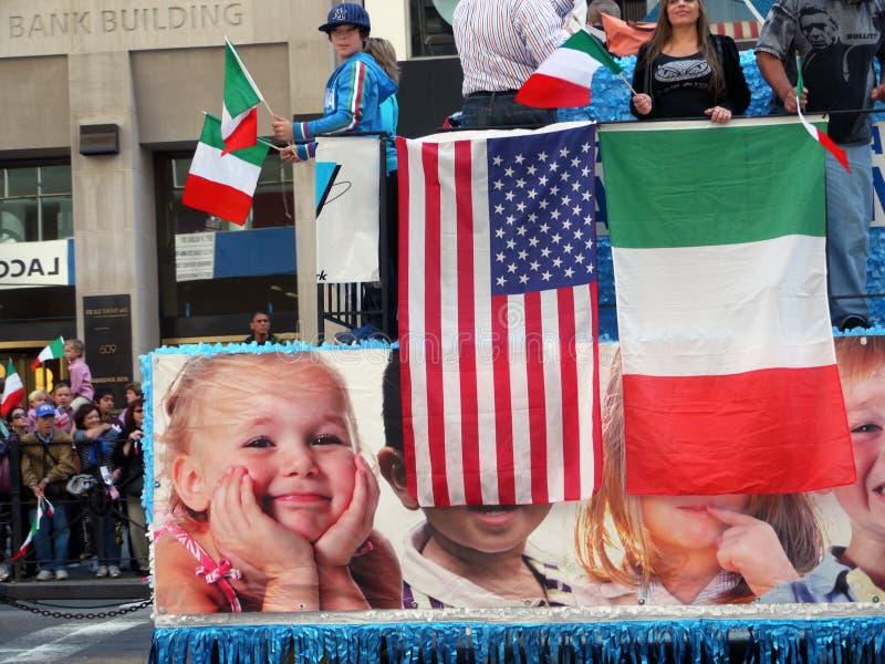 2010 Columbus dzień nyc parada zdjęcia stock