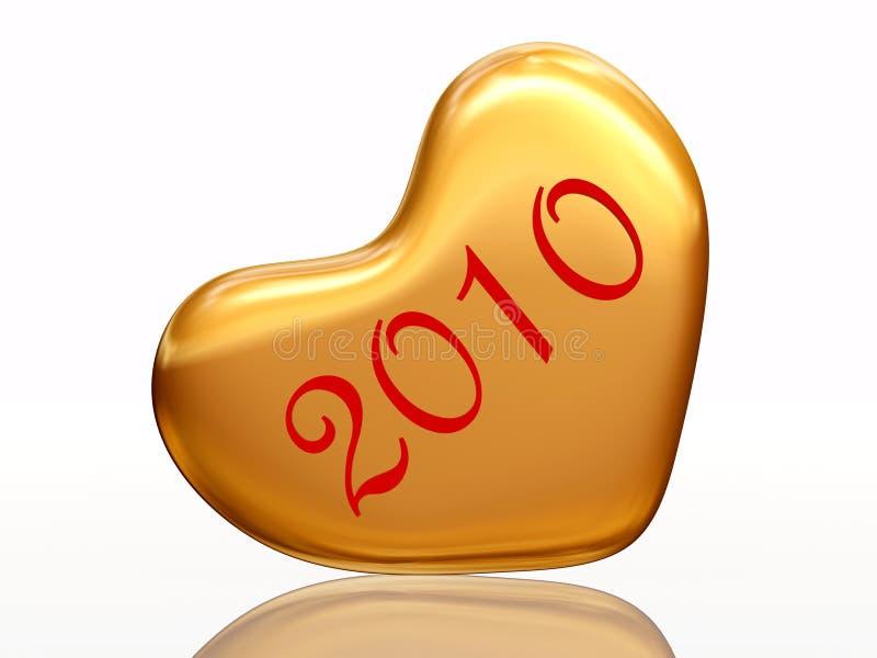 2010 dans l'amour illustration stock