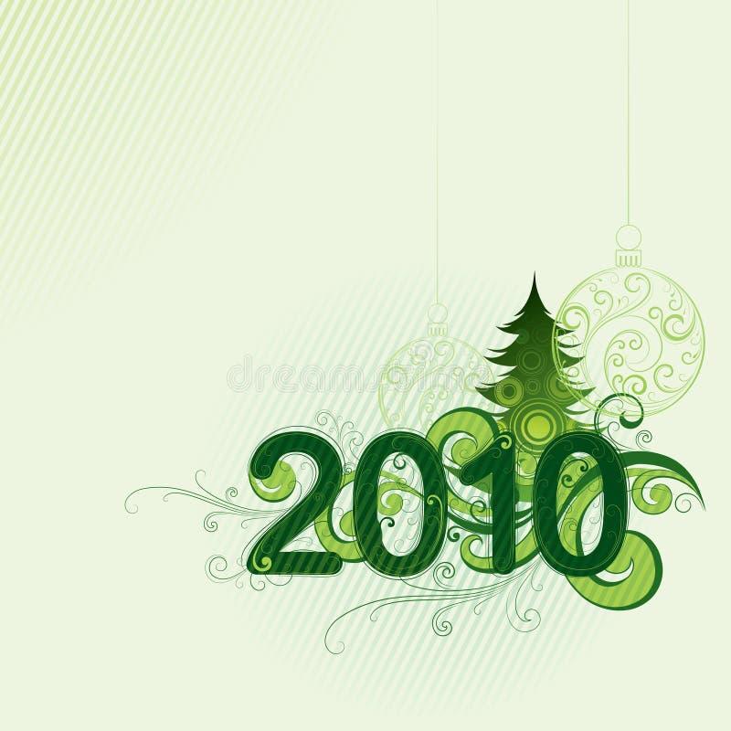 2010 de achtergrond van Kerstmis vector illustratie