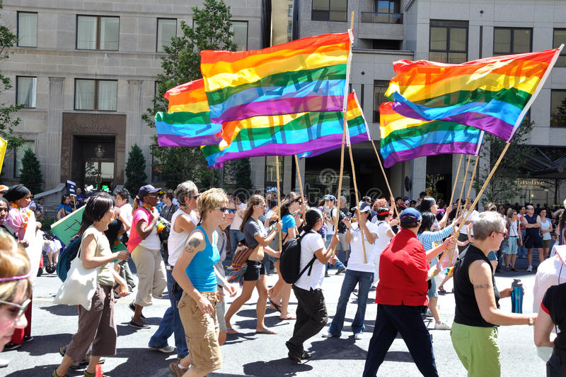 2010 dumy chorągwiana tęcza Toronto obraz stock