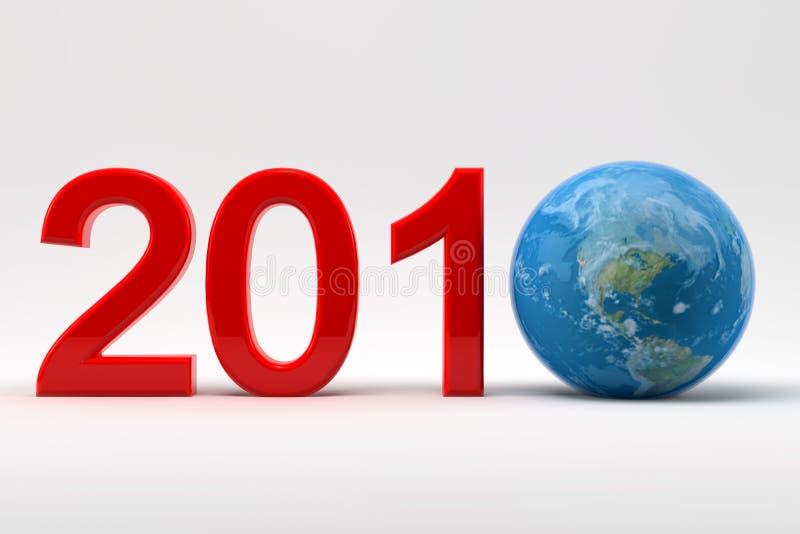 2010 e terra ilustração stock
