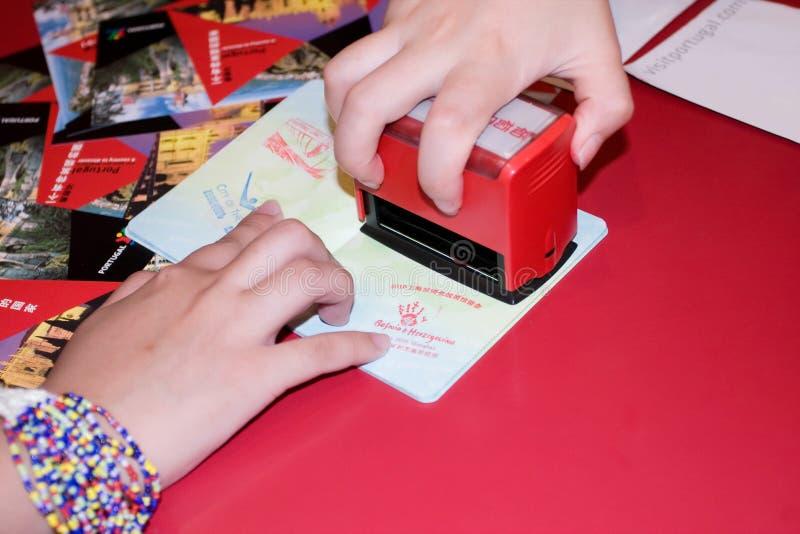 2010 Expo Passport stamp royalty free stock photos