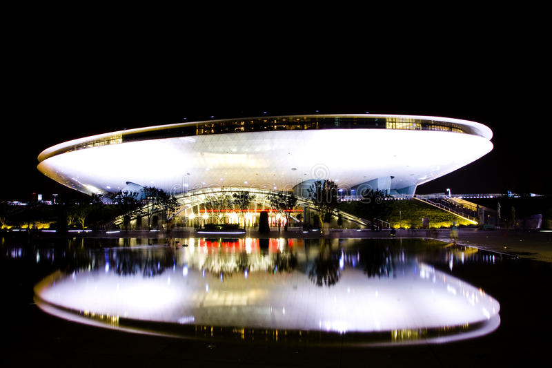 Download 2010 Expo Shanghai stock photo. Image of pavilion, night - 15771286