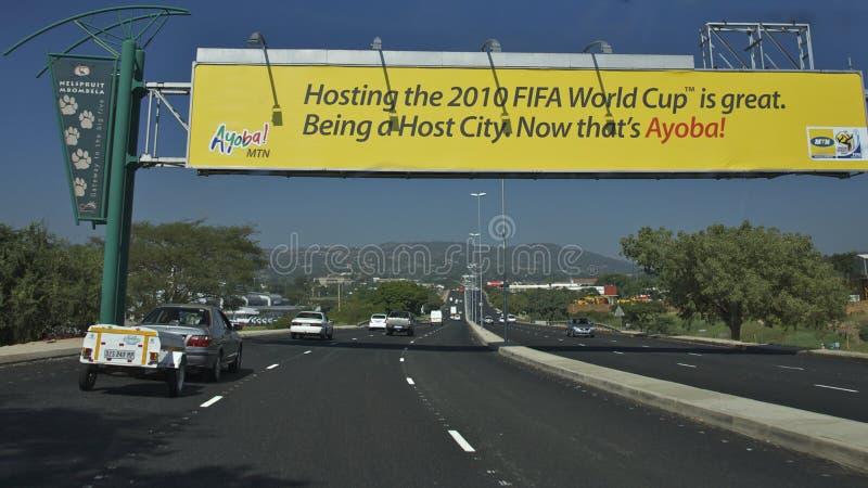 2010 filiżanek Fifa autostrady znaka świat zdjęcia royalty free