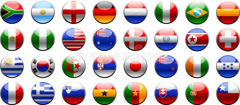 2010 filiżanek Fifa zaznacza świat ilustracja wektor