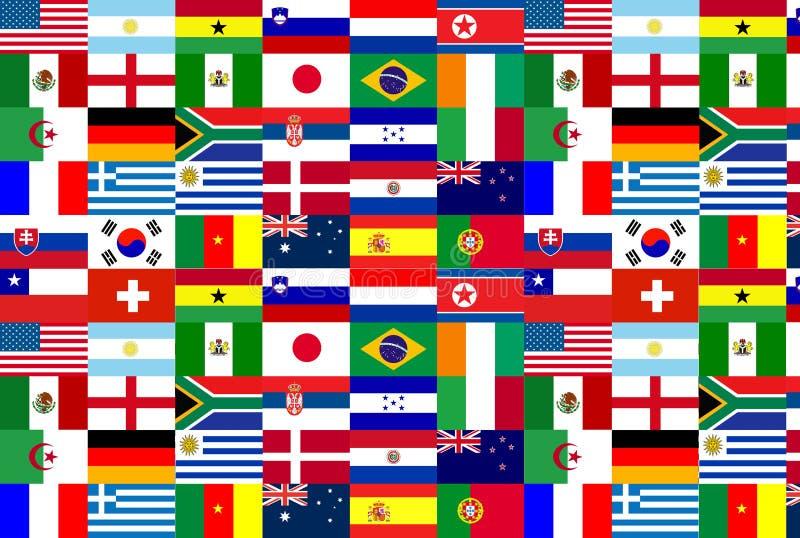 2010 filiżanki flaga drużyny świat royalty ilustracja