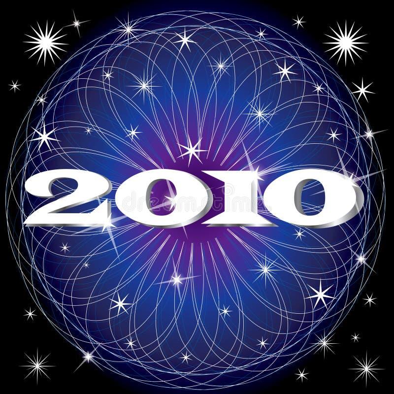 2010 fogos-de-artifício de ano novo ilustração royalty free