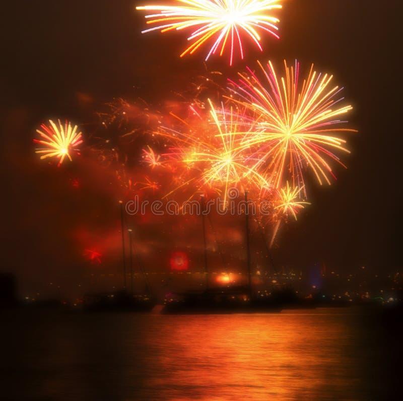 2010 fuochi d'artificio Sydney di nuovo anno fotografia stock libera da diritti