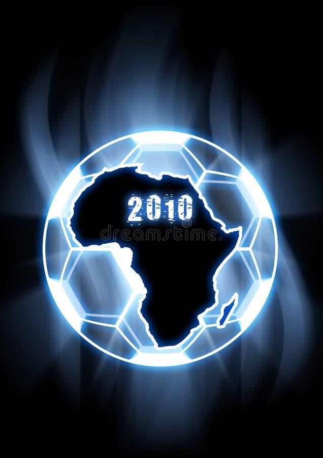 2010 het Voetbal van de Kop van de Wereld royalty-vrije illustratie