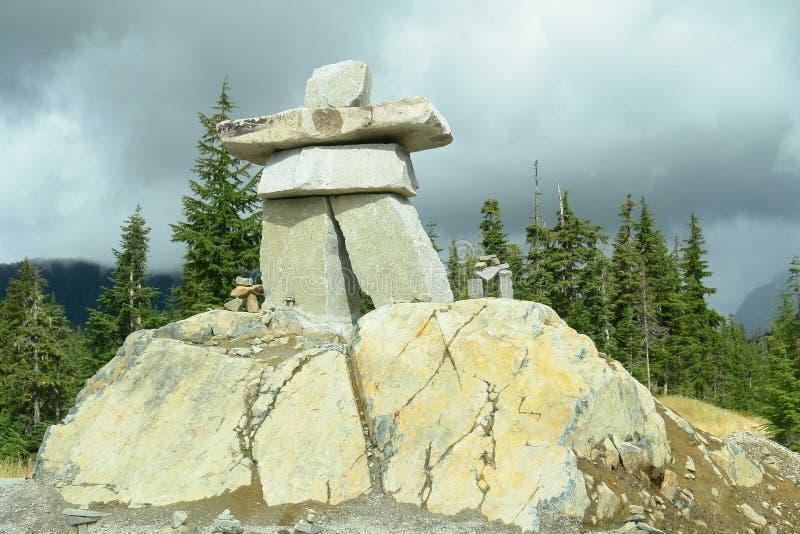 2010 igrzysk olimpijskich inukshuk Vancouver whistler fotografia stock