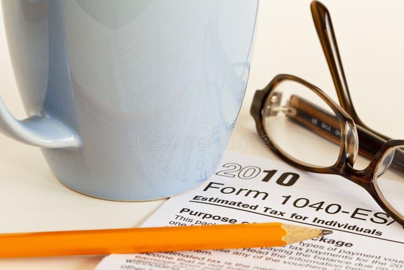2010 impuestos foto de archivo libre de regalías