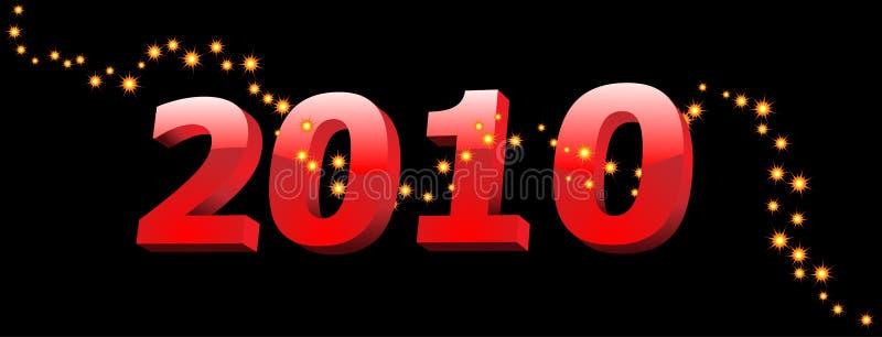 2010-Jahr-Abbildungen stock abbildung