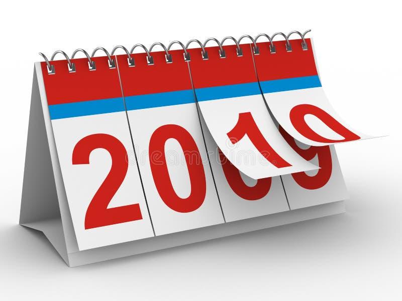 2010-Jahr-Kalender auf weißem backgroung vektor abbildung
