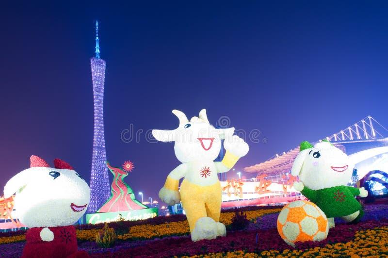 2010 Juegos Asiáticos - cuadrado de Haixinsha de Guangzhou fotos de archivo