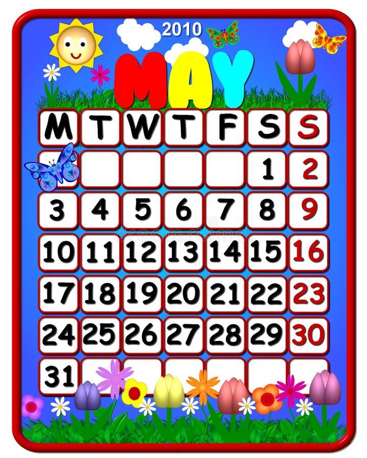 2010 kalendarz może o temacie ilustracja wektor
