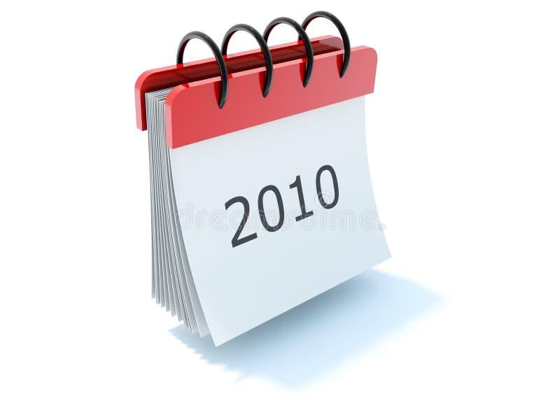 2010 kalendarzowa ikona ilustracji