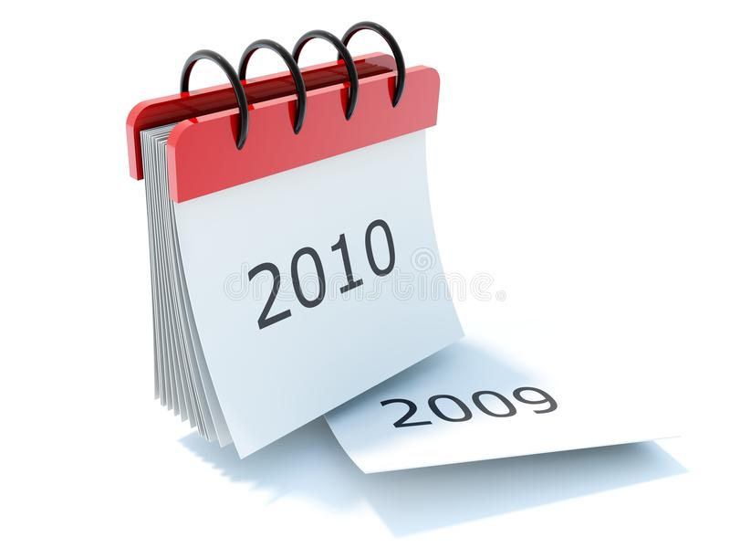 2010 kalendarzowa ikona ilustracja wektor