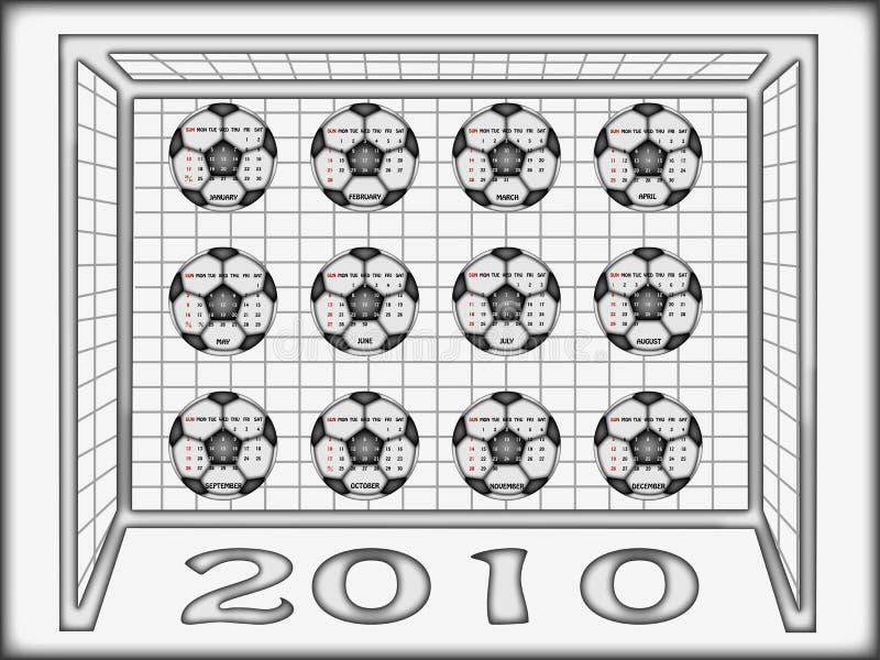 2010 kalendarzowy futbol obraz royalty free