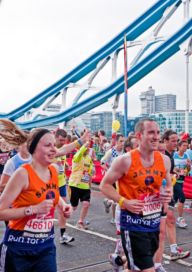 2010 London maraton zdjęcia stock