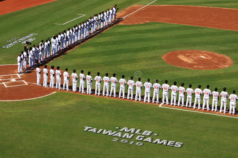 Download 2010 MLB Taiwan Games editorial image. Image of equipment - 13421750