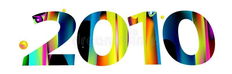 2010 neues Jahr stock abbildung