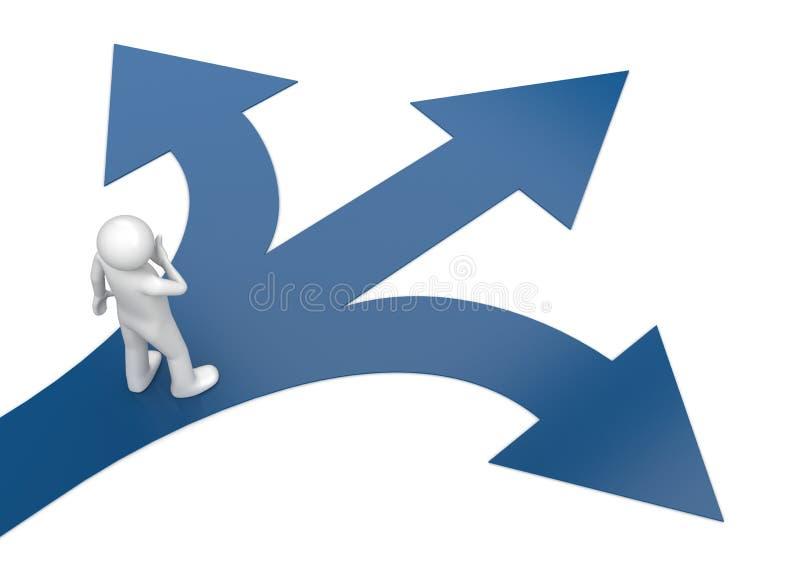 2010 neufs choisissent votre voie 2 illustration stock