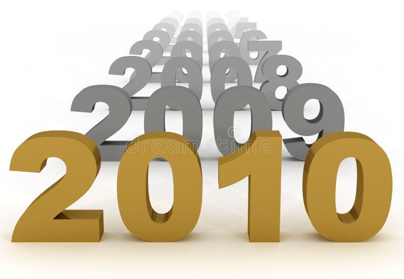 2010 new year royalty free stock photos
