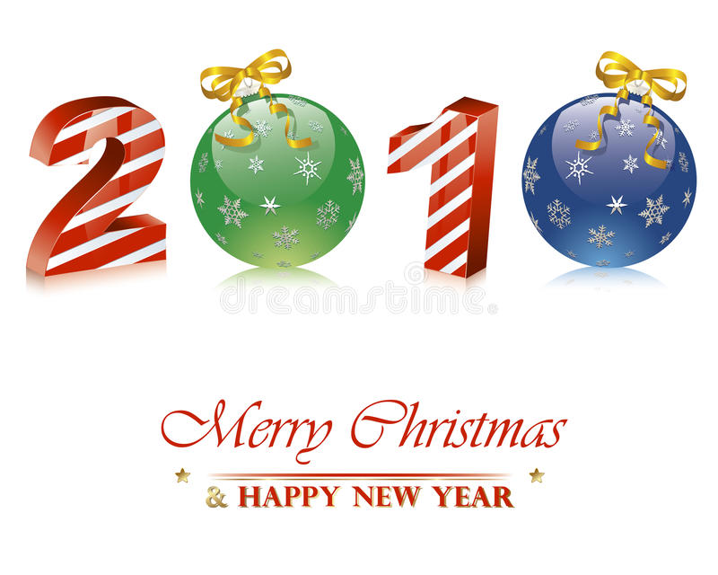 Download 2010 new year stock vector. Image of hanging, christmas - 12280360