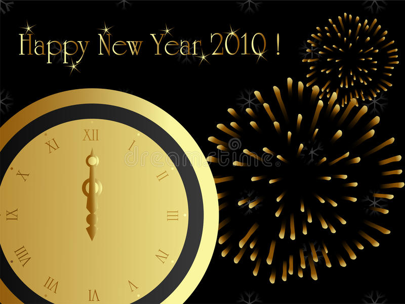 Download 2010 new year card stock vector. Image of december, celebration - 11267964