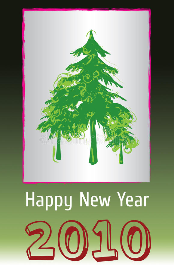 Download 2010 New Year Greeting stock vector. Illustration of happy - 10864060