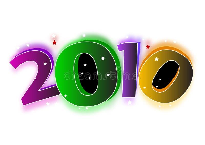 2010 nowy rok royalty ilustracja