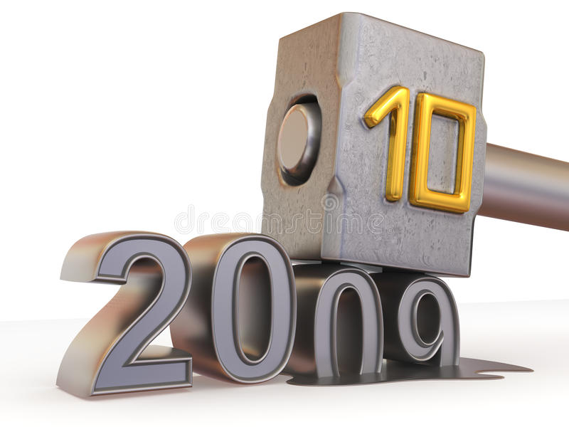 2010 nya år stock illustrationer