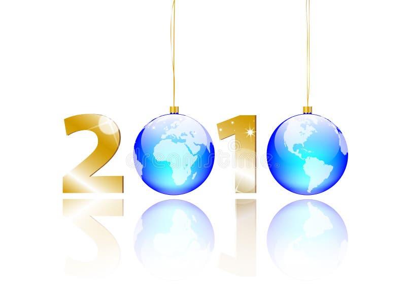 2010 nya år royaltyfri illustrationer
