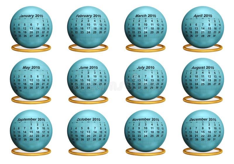 2010 Original Calendar. stock illustration