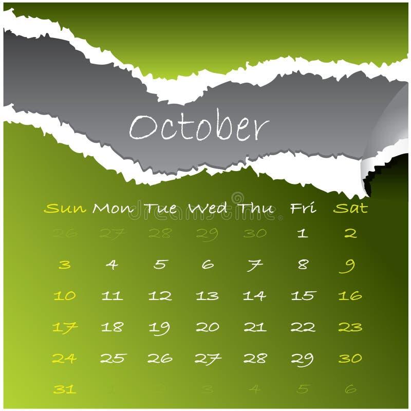 2010 ottobre illustrazione vettoriale