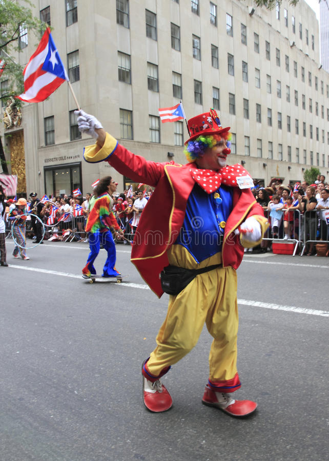 2010 Puerto Rican Day Parade. This was shot at the Fifth Avenue of New York City on June 13, 2010, when the 2010 National Puerto Rican Day Parade was held. At royalty free stock photography