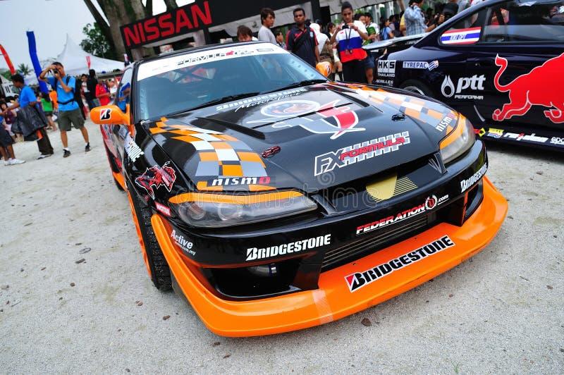 2010 samochodu dryftowy formuły Nissan silvia obraz stock