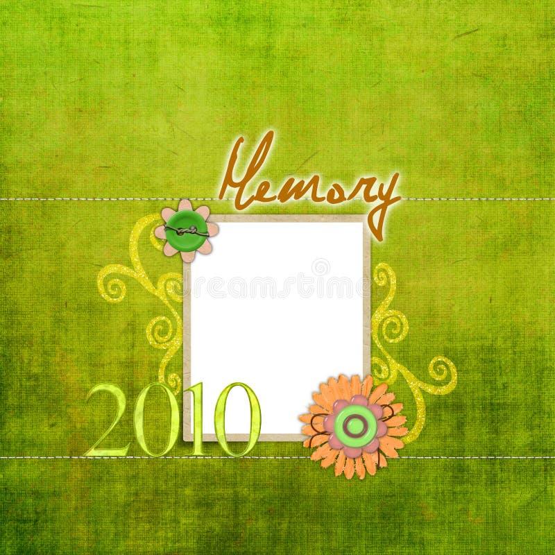 2010 scrapbook background stock illustration
